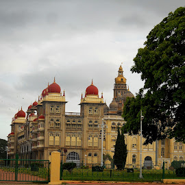 Side View of Mysore Palace. . . . by Shishir Kumar - Buildings & Architecture Statues & Monuments ( monuments, mysore, india, architecture, palace )