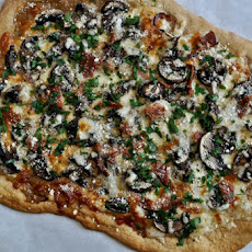 Whole Wheat Fontina Portobello Pizza