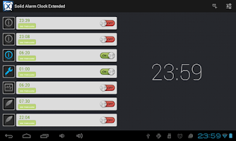 Screenshot of Solid Alarm Clock Extended