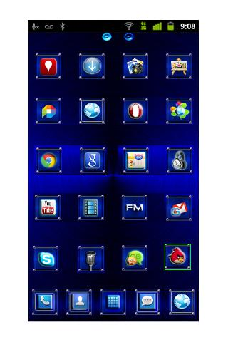 Go Launcher Blue Steel Theme
