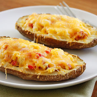 Western Omelet Breakfast Potato Skins