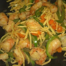 Stir-Fried Prawns - Hong Kong Style