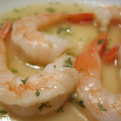 Baked Shrimp in Lemony Garlic Sauce