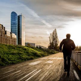 Along the Harbor Promenade by Stefan Tiesing - Sports & Fitness Running