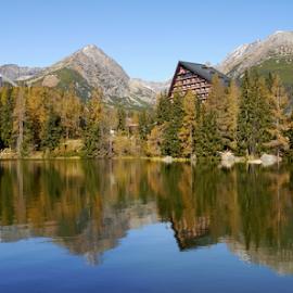 Reflection by Petr Podroužek - Landscapes Mountains & Hills ( reflection, sky, mountain, forest, lake )