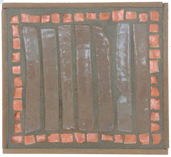 Copper Mosaic Table <br> 9 x 10 in