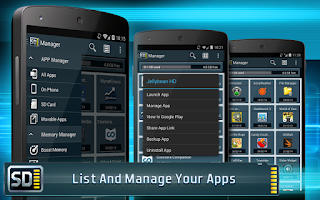 Screenshot of App Manager for Android
