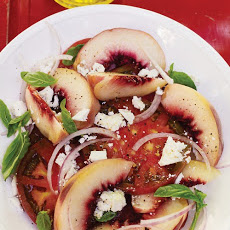 Heirloom Tomato, White Peach, and Ricotta Salata Salad