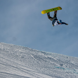 Flipped by Breanna Kennedy - Sports & Fitness Snow Sports ( slopestyle, trick, snowboarding, flip, jump )