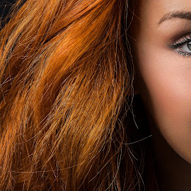 Red Head by Alex Sartain - People Portraits of Women