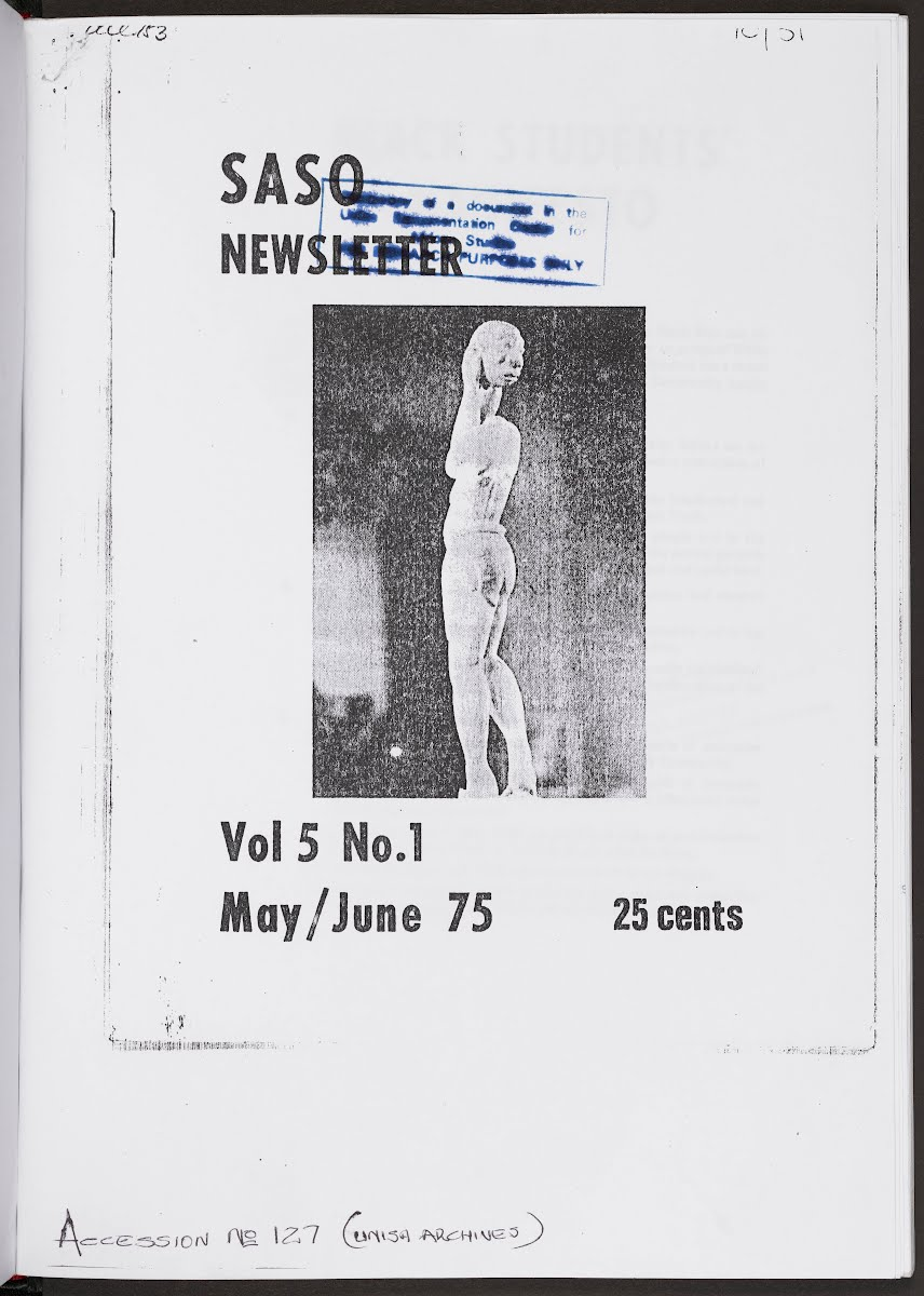 Cover of a 1975 SASO Newsletter
