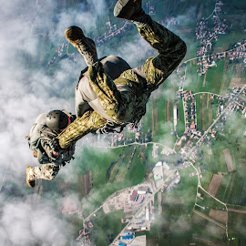 Military 2-way by Damir Konaczek - Sports & Fitness Other Sports ( skydiving, sports, air, parachute, military )