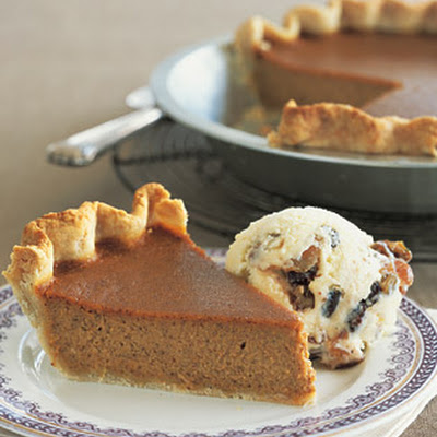 Caramel-Pumpkin Pie with Mincemeat Ice Cream