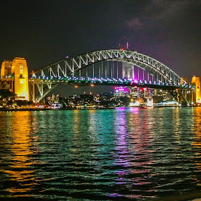 Sydney Harbour Bridge by Gareth Fleming - Buildings & Architecture Bridges & Suspended Structures ( #sydney #harbourbridge #austrlia #bridge #night,  )