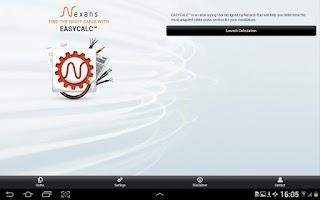Screenshot of Nexans EASYCALC