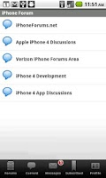 Screenshot of iPhone Forum