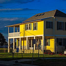 Yellow House by Philip Botha - Buildings & Architecture Homes ( home, new orleans, bright, louisiana, house, yellow, usa )