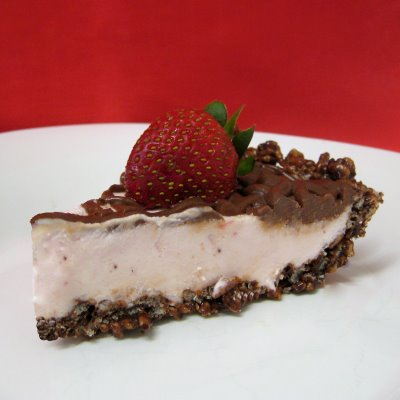 Chocolate Strawberry Crispy Pie