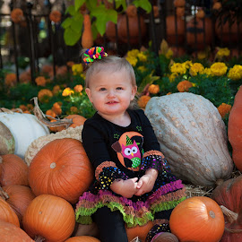 Enjoying my first pumpkins by Vladimir  Stevanovic  - Babies & Children Toddlers ( babies, stevanovicphotography, family, dallas, texas, pumpkins, frisco, children, october, portrait )