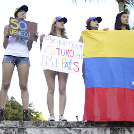 SOS Venezuela by Rosangela Rodriguez Castellanos - News & Events Politics ( venezuela, flag, future, protest, sos )