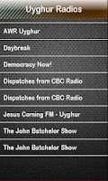Screenshot of Uyghur Radio Uyghur Radios