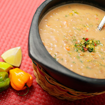 Lentil and Coconut Soup with Cilantro-Habanero Gremolata