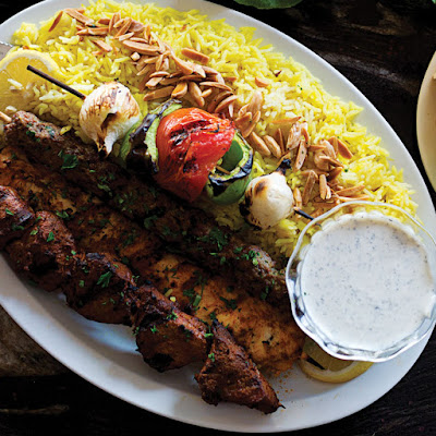 Shish Taouk (Spiced Chicken Kebabs with Garlic Yogurt Sauce)