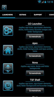 Serenity Launcher Theme Cyan - screenshot