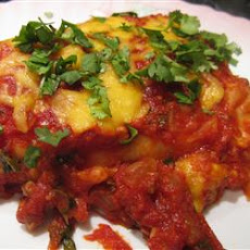 Beef Enchiladas with Spicy Red Sauce