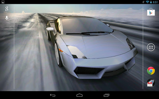 3D Car Live Wallpaper - screenshot
