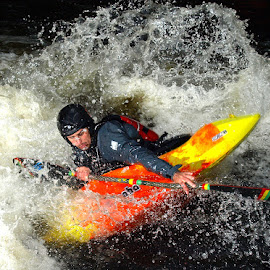 Playboater by Turnip Towers - Sports & Fitness Watersports ( kayaker, canoe, kayak, whitewater, canoeist )