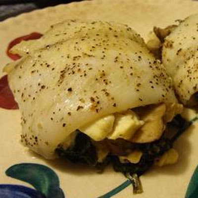 Spinach and Feta Fish Rolls