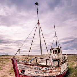 Hvalsnes Abandoned Boat 2 by David Long - Transportation Boats