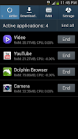 Screenshot of Galaxy S Task Manager Shortcut