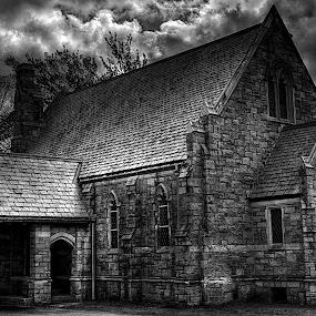 Church by Edward Allen - Black & White Buildings & Architecture