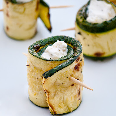 Cheese Stuffed Zucchini Rolls