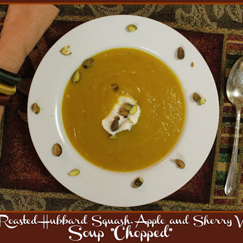 "Roasted Hubbard Squash, Apple and Sherry V Soup ""Chopped"""
