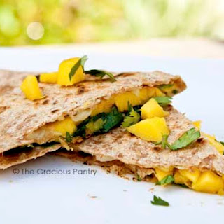 Clean Eating Mango and Cilantro Quesadillas