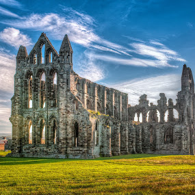 Whitby Abbey by Darren Whiteley - Buildings & Architecture Decaying & Abandoned ( north yorkshire, hdr, whitby, abandoned, abbey,  )