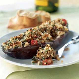 Greek-Style Stuffed Eggplant