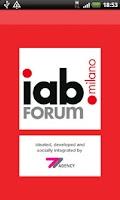 Screenshot of IAB Forum Milano 2012