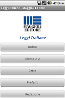 Screenshot of Leggi Italiane