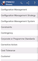 Screenshot of PRINCE2 Glossary