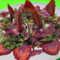 Wild Strawberry Salad W/ Pepper Toasted Parmesan Crisps & Bl