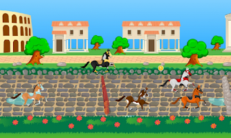 Screenshot of Roman Horses - Girl Racing