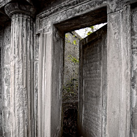 The Door to Eternity by Kate Purdy - Artistic Objects Other Objects ( brig o'doon, scotland, tomb, memorial, death, cemetery, eternity, door, travel,  )