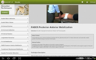 Screenshot of Mobile OMT Upper Extremity