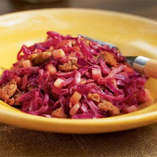Braised Red Cabbage with Sausage and Apples