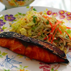 Pineapple-Marinated Salmon with Asian Cabbage Salad