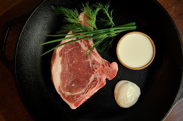 Pork Chops with Homemade Buttermilk Ranch